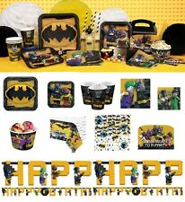 Batman Lego Movie Birthday Party Tableware Plates Cups Napkins Balloons Supplies