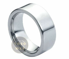 Men's 9mm Pipe-Cut Tungsten Ring High Polished Wedding Band TS0660