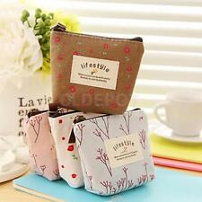 Girls Womens Floral Canvas Wallet Mini Coin Purse Small Pouch Change Purse Case