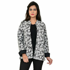 Indian Hand Block Printed Jacket warm Wear Cotton Quilted Handmade Coat #NJ-19
