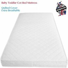 Baby Toddler Cot Bed Fully Breathable Foam Mattress & Waterproof Foam QUILTED UK