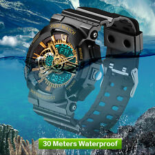 Mens LED Digital Multifunction Waterproof Sport Military Shock Watches NEW QW