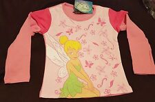 BNWT Girls Pink Disney Tinkerbell Fairy Top - Age 4/5 or 6/7