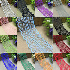 GUT Wholesale 10 Yard 4.5cm Embroidered Net Lace Trim Ribbon DIY Sewing Craft