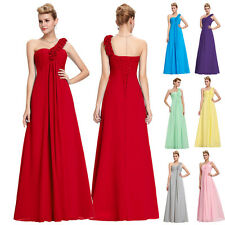 Bride Long Chiffon Maternity Evening Formal Party Prom Gown Bridesmaid Dress Red