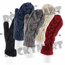 Braided Cable Knit WOOL MITTENS (choose color) RM4050