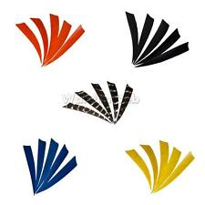 "5pcs 4"" Shield Natural Feathers Right Wing Archery Fletching DIY Hunting Arrows"