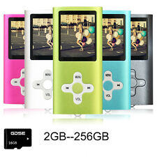 "2GB- 256GB MP3 Player MP4 Player 1.8"" LCD Screen FM Radio Video Games Movie Lot"