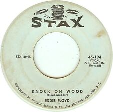 "Eddie Floyd-Knock On Wood 7"" 45-Stax, 45-194, 1966, US Plain Sleeve Writing On L"