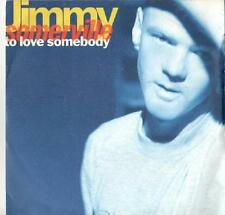 """Jimmy Somerville-To Love Somebody 7"""" 45-London Records, LON 281, 1990, Picture S"""