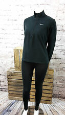 Nike Lady's Long Sleeve Tracksuit Training Top Gym Jacket in BLACK SIZE L(14/16)