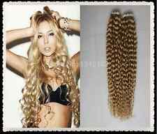 "20""70g Russian Slavic Remy Double Drawn 7A Human Hair Extension Curly Tape"