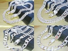 Curb Chain Necklace King's chain Silver plated Silver chain Figaro chain chain