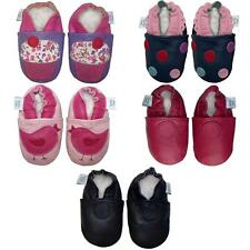 SOFT LEATHER BABY SHOES, SUEDE SOLE, 3-4 YEARS, GIRLS - DOTTY FISH