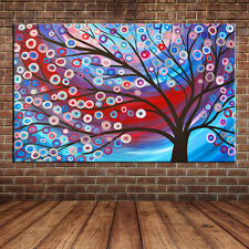 Modern Landscape Abstract Tree of Life Hand Made Oil Painting Large Wall Canvas