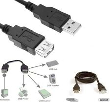 Super Speed USB 2.0 Male to Female USB Data Sync Extension Cable 1m 2m 3m 5m UK