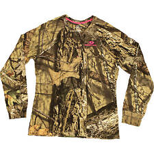 Mossy Oak Break-up Country Women's/Ladies Camo Long Sleeve Henley T-Shirts:S-2XL