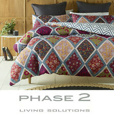 Oakden Lightly Quilted Duvet Doona Quilt Cover Set Phase 2 | Queen | King
