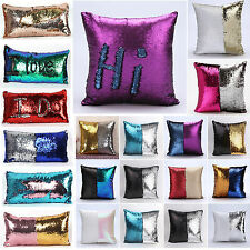 Glitter Sequins Throw Pillow Case Car Cafe Sofa Bed Cushion Covers Home Decor
