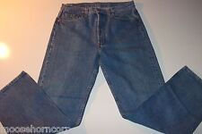 LEVIS 501 BLUE JEANS MENS Button Fly Regular Fit- RED TAB - 33 X 30 - MADE USA