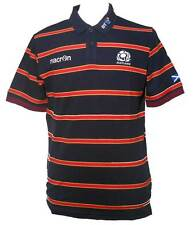 Scotland Striped Polo Shirt - Navy/Red