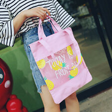 Letter Transparent Shoulder Bag Tote Women's Jelly Large Capacity Handbag Girl H