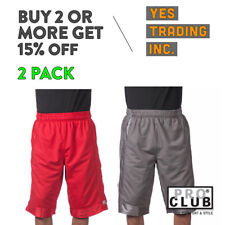 PROCLUB MESH BASKETBALL SHORT POCKET Mens Heavyweight Gym Workout Shorts S - 7XL