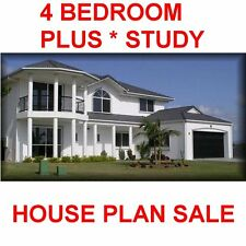 4 Bed Plus Study House Plan-Contruction House Floor Plans - Builders Plans-Sale