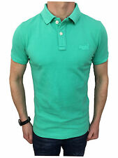 Mens Size XL Destroyed S/S Pique Polo Shirt in Summer Mint
