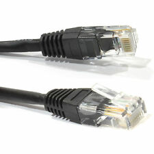 Cat5e RJ45 Ethernet Network Patch Lead Cable Black Cat 5e 1M 1.5m 2M 5m 10M