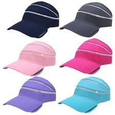 Men Women Plain Visor Sun Cap Outdoor Sport Hat Adjustable Beach Golf Tennis Hat