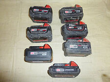 Lot of 7 Milwaukee 18 Volt  Lithium-Ion Battery Batteries AS IS NON WORKING