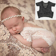 Newborn Baby Bodysuit Romper Girl Lace Floral Photo Photography Prop Costume