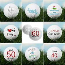Personalised Golf Balls Gifts For Him Men Dads Golfers Birthday Father's Day