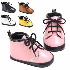 Infant Baby Leather Boys Girls Sneakers Kids Martin Boots Soft Sole Grib Shoes