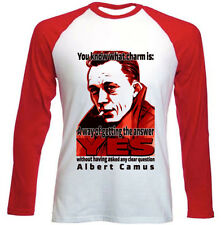 ALBERT CAMUS CHARM QUOTE - NEW RED LONG SLEEVES COTTON TSHIRT