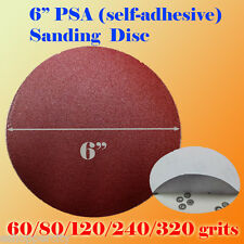 "6"" PSA Self Adhesive 60/80/120/180/320g Grit Sand Disc Stick On Sanding Paper RO"