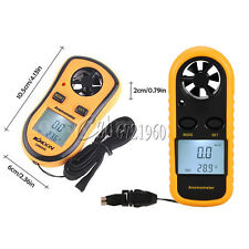 Mini Digital LCD Anemometer Wind Speed GM816 Meter Temperature Gauge Thermometer