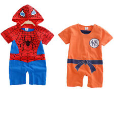 Infant Boys Girls Baby Super Hero Romper Outfit Suit Party Fancy Dress Costume
