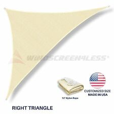 Sun Shade Sail Customize 8'FT Triangle Beige Permeable UV Outdoor Canopy Awning