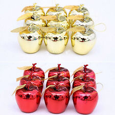 12X CHRISTMAS TREE XMAS APPLE DECORATIONS BAUBLES PARTY WEDDING ORNAMENTS SMART
