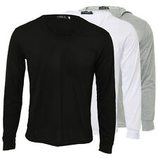 Mens Slim Fit Long Sleeve Hoodie Coat Jacket Outwear Pullover Sweater Top Shirts
