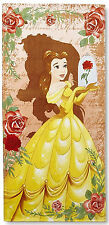Disney Beach Towel Beauty & The Beast Belle Kids Cotton Bath Girls Oversized New