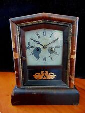 Antique E N Welch Cottage Mantel Clock 1870 Parts Or Repair Runs Well
