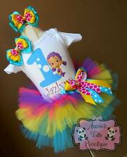 Bubble Guppies Oona Girls Birthday Party Tutu Outfit Dress Set Handmade
