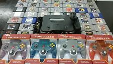 Nintendo 64 N64 system 20 games 4 controllers,