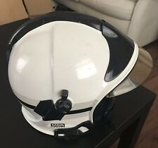 MSA GALLET GENUINE FIREMANS HELMET USED WHITE SIZE 53-60  F1S12