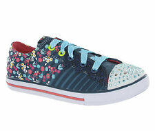Skechers Memory Foam Twinkle Toes Light Up Girls Kids Shoes Trainers Pumps
