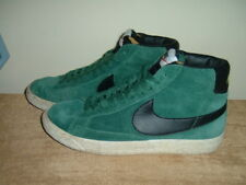 nike mens / ladies older boys / girls green high top leather trainers size 5.5