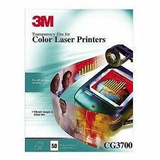 """SEALED 3M Transparency Film Color Laser Printers 50 Sheets 8 1/2 x 11"""" CG3700"""